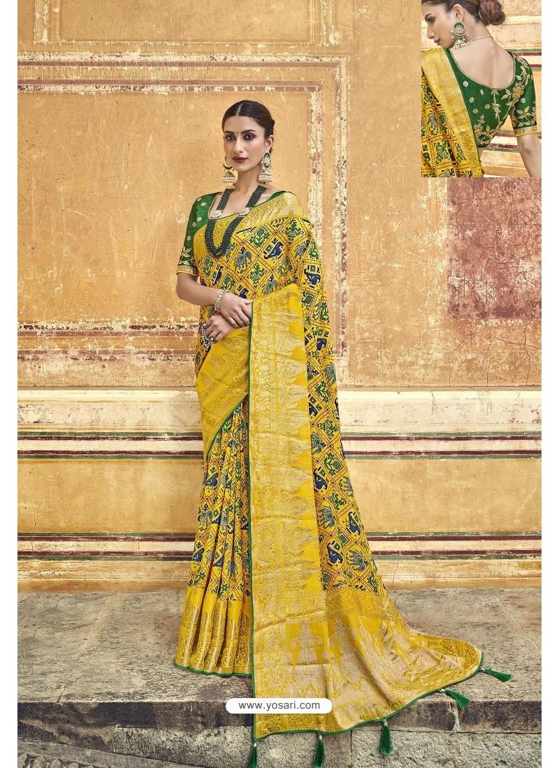 Yellow Fancy Fabric Designer Saree