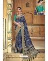 Navy Blue Fancy Fabric Designer Saree