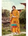 Orange Wool Pashmina Jacquard Designer Suit
