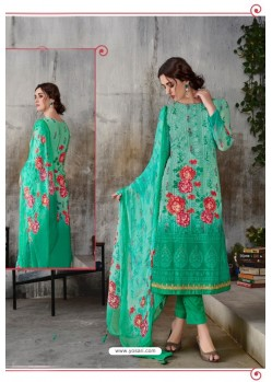 Jade Green Georgette Digital Printed Straight Suit