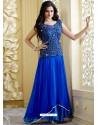 Alluring Blue Pure Georgette Designer Gown