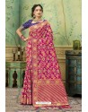 Rani Silk Jacquard Work Party Wear Saree
