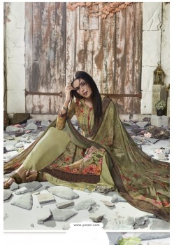 Green Heavy Sorer Crepe Digital Printed Palazzo Suit