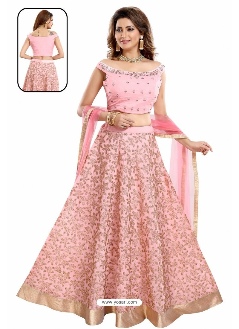 Pink Chinon Chiffon Handworked Anarkali Suit