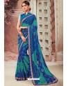 Multi Colour Chiffon Designer Saree