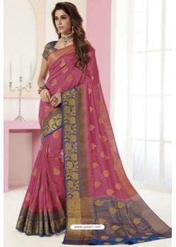 Pretty Rani Tussar Silk Designer Saree