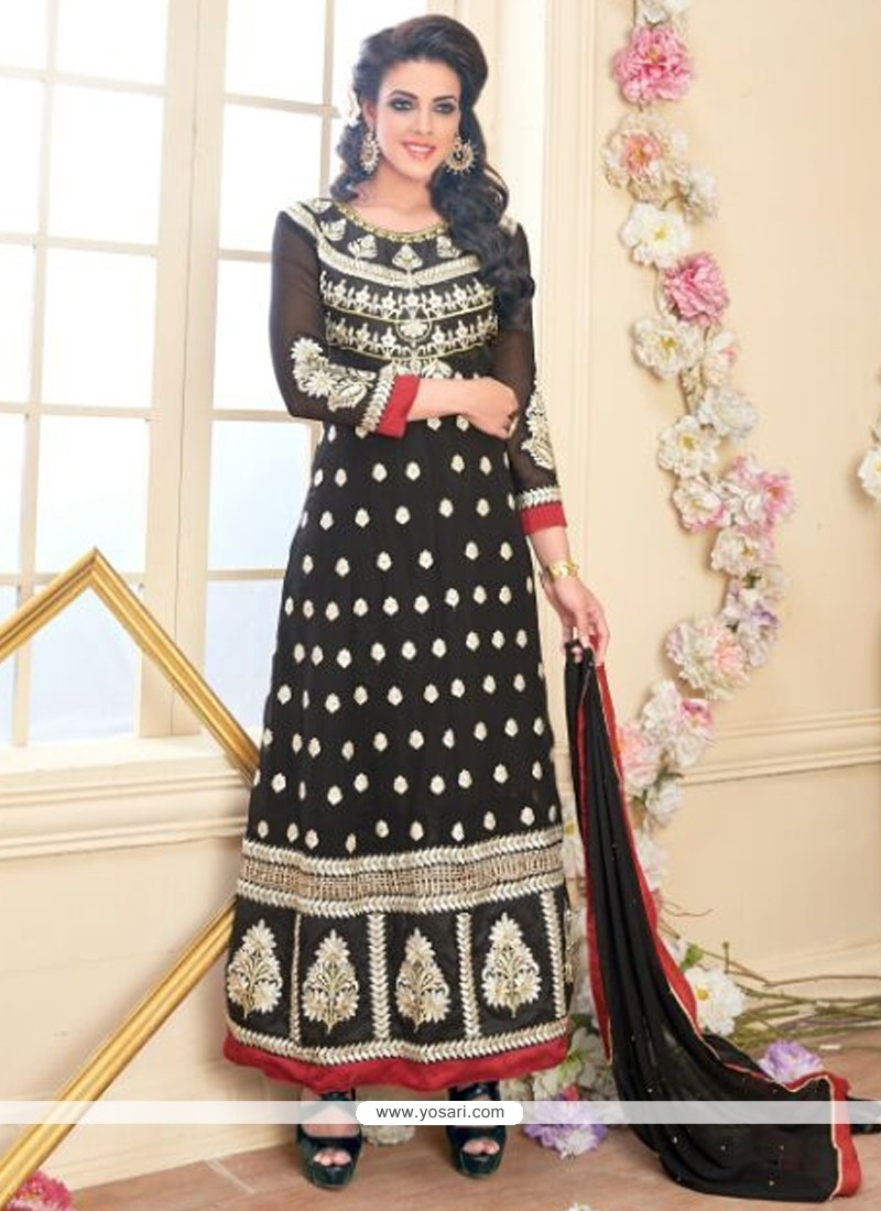 Graceful Resham Work Georgette Anarkali Suit