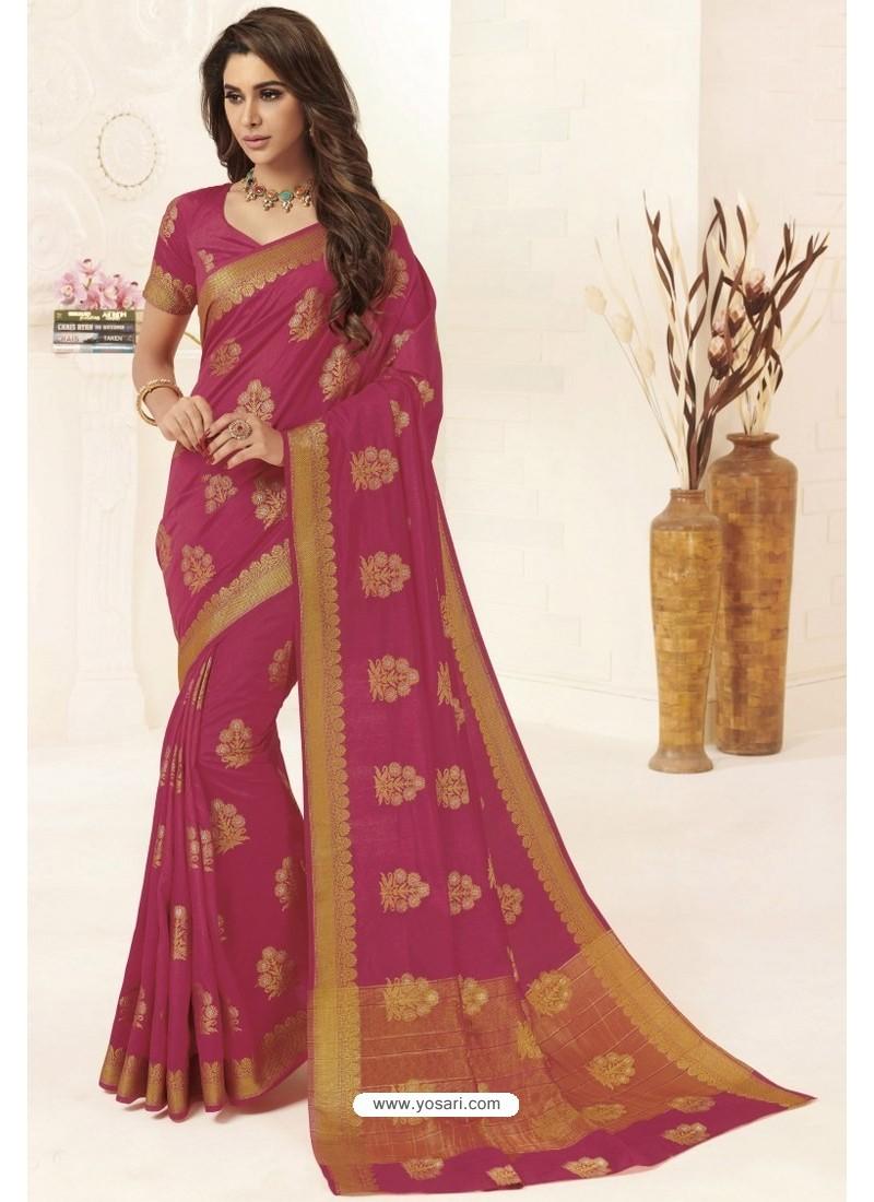 Rani Tussar Silk Designer Saree