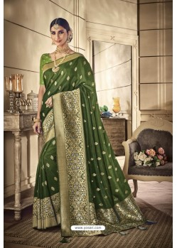 Mehendi Party Wear Silk Sarees