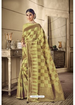 Lemon Party Wear Silk Sarees