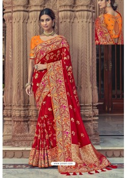Maroon Designer Traditional Silk Saree