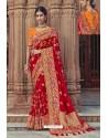 Maroon Designer Traditional Silk Saree