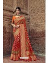 Red Designer Traditional Silk Saree