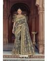 Grey Designer Traditional Silk Saree