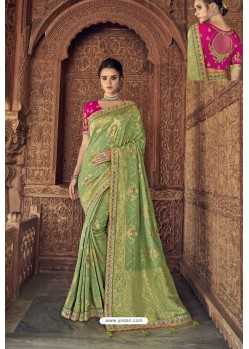 Green Designer Traditional Silk Saree