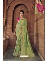 Green Designer Traditional Silk Saree