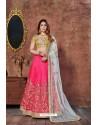 Gold And Fuchsia Mulbury Silk Embroidered Designer Lehenga Choli