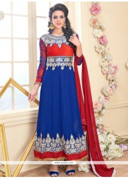 Excellent Embroidered Work Anarkali Salwar Suit