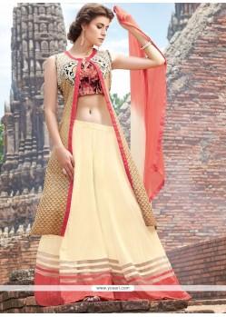 Dazzling Cotton Satin Resham Work Designer Palazzo Salwar Suit