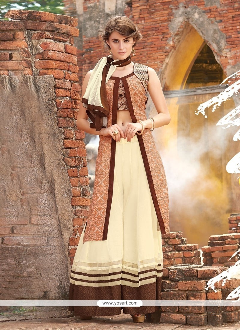 Luxurious Resham Work Designer Palazzo Suit