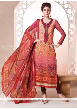 Desirable Multi Colour Digital Print Work Churidar Salwar Suit