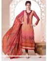Desirable Multi Colour Digital Print Work Churidar Salwar Suit