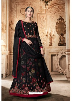 Black Georgette Designer Anarkali Suit