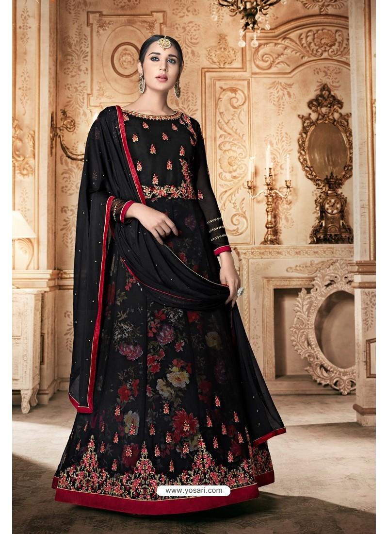 Black Georgette Designer Anarkali Suit