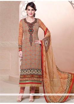 Trendy Multi Colour Digital Print Work Georgette Churidar Salwar Suit