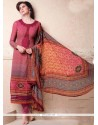 Demure Digital Print Work Churidar Salwar Kameez