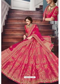 Rani Silk Jacquard Handworked Lehenga Choli