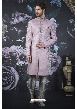 Mauve Readymade Designer Indowestern Sherwani For Men