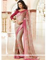 Staring Patch Border Work Casual Saree