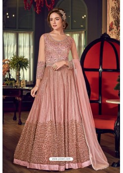 Old Rose Designer Embroidered Wedding Anarkali Suit