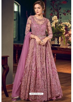Magenta Designer Embroidered Wedding Anarkali Suit