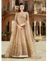 Beige Designer Embroidered Wedding Anarkali Suit
