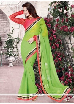 Jacqueline Fernandez Embroidered Work Casual Saree