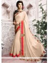 Celestial Patch Border Work Jacqueline Fernandez Designer Saree