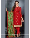Imperial Chanderi Cotton Churidar Salwar Kameez