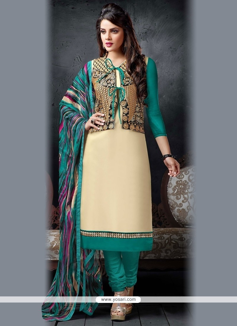 Amusing Chanderi Cotton Churidar Salwar Suit