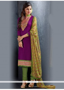 Incredible Lace Work Churidar Salwar Kameez