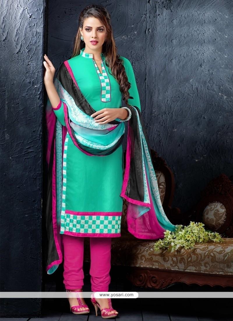 Princely Resham Work Churidar Designer Suit
