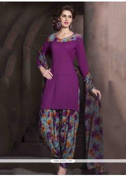 Gorgonize Purple Designer Patiala Salwar Kameez