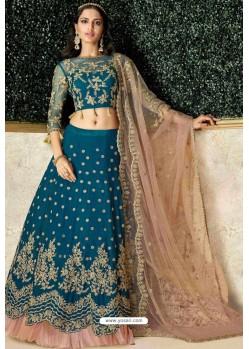 Blue Heavy Embroidered Designer Wedding Lehenga Choli
