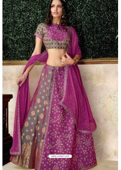 Magenta Heavy Embroidered Designer Wedding Lehenga Choli