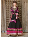 Dazzling Black Georgette Anarkali Salwar Suit