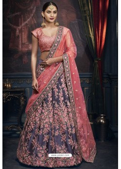 Pigeon Heavy Embroidered Designer Wedding Lehenga Choli
