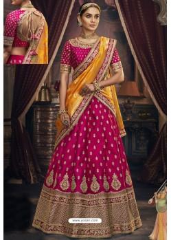 Old Rose Heavy Embroidered Designer Wedding Lehenga Choli