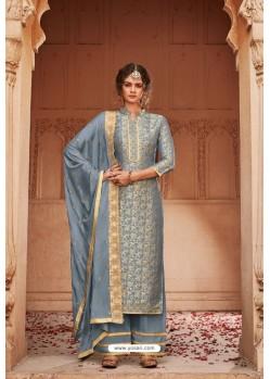 Pigeon Designer Party Wear Banarsi Jacquard Palazzo Salwar Suit