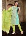 Sky Blue Designer Readymade Churidar Salwar Suit